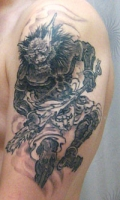 Oni tattoo by Gotch at Harizanmai in Kyoto Japan