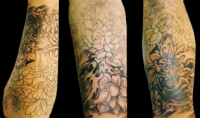 forearm sleeve in progress
