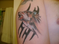 wolf with tribal