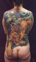 lion backpiece
