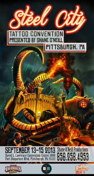 Steel city for Pittsburgh tattoo convention
