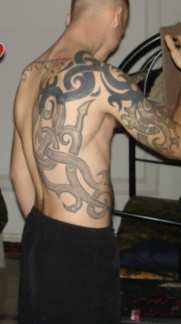 tribal body tattoo fantasy