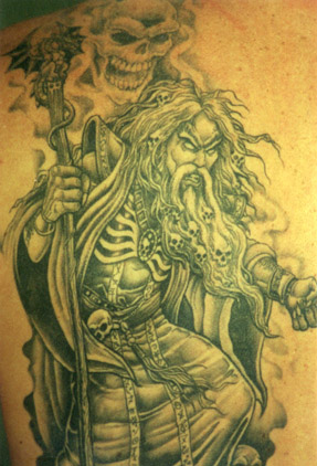 Wizard tattoo pictures for Wizard tattoo designs